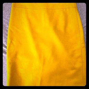J Crew Pencil Skirt - Mustard Color